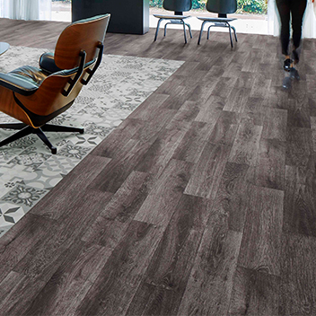 Flotex Naturals flocked flooring - Blackened Oak