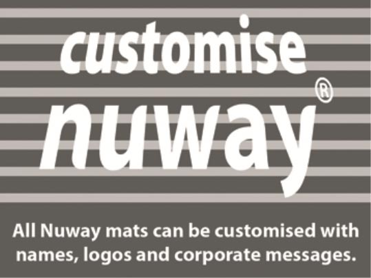 Nuway mats can be customised with logos