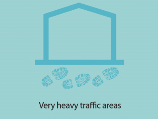 Nuway Grid is suitable for very heavy traffic entrances
