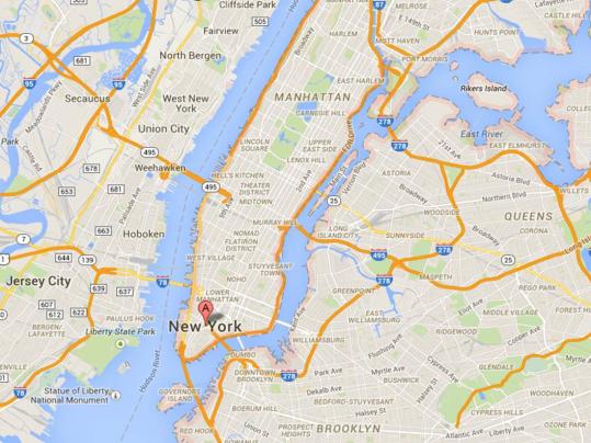 Una mappa a stampa digitale
