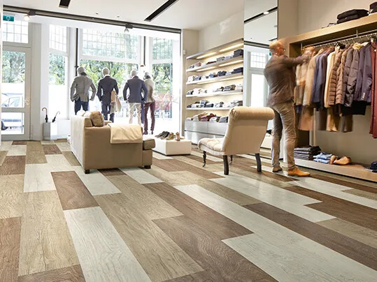 Allura floorings - retail environment